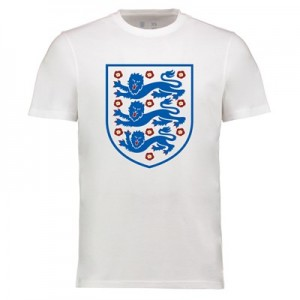 England Large Crest Tshirt - White - Adults