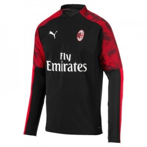 AC Milan 1/4 Zip Training Top - Black