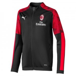 AC Milan Training Track Jacket - Black - Kids