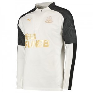 Newcastle United 1/4 Zip Training Top - White