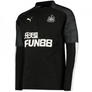 Newcastle United 1/4 Zip Training Top - Black