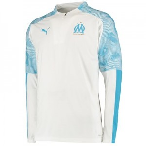 Olympique de Marseille 1/4 Zip Training Top - White