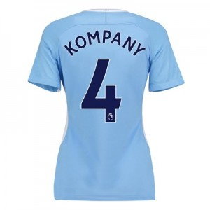 Manchester City Home Stadium Shirt 2017-18 - Womens with Kompany 4 printing