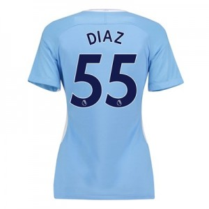 Manchester City Home Stadium Shirt 2017-18 - Womens with Diaz 55 printing