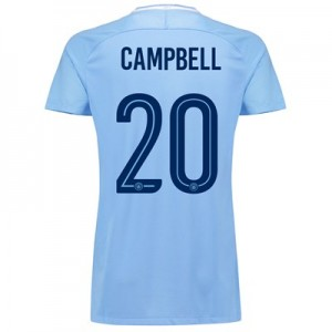 Manchester City Home Stadium Cup Shirt 2017-18 - Womens with Campbell 20 printing