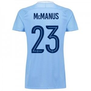 Manchester City Home Stadium Cup Shirt 2017-18 - Womens with McManus 23 printing