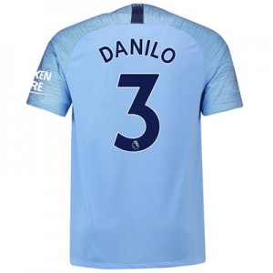 Manchester City Home Stadium Shirt 2018-19 with Danilo 3 printing