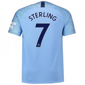 Manchester City Home Stadium Shirt 2018-19 with Sterling 7 printing