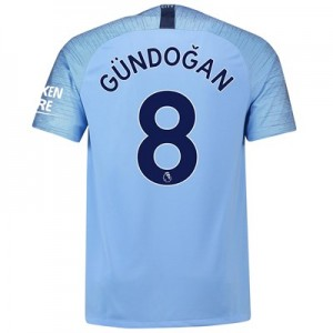 Manchester City Home Stadium Shirt 2018-19 with Gündogan 8 printing