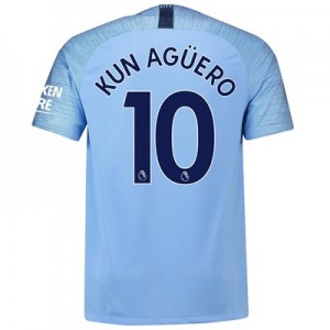 Manchester City Home Stadium Shirt 2018-19 with Kun Agüero  10 printing