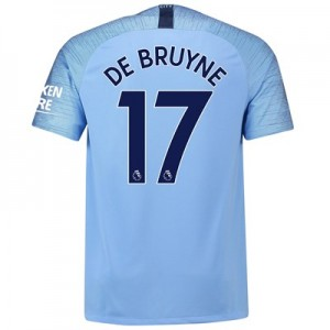 Manchester City Home Stadium Shirt 2018-19 with De Bruyne 17 printing