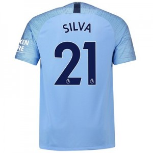 Manchester City Home Stadium Shirt 2018-19 with Silva 21 printing