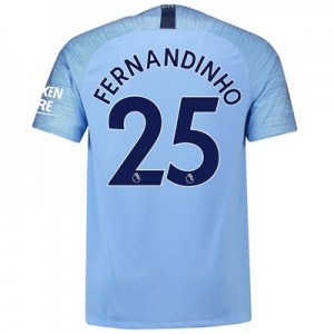 Manchester City Home Stadium Shirt 2018-19 with Fernandinho 25 printing