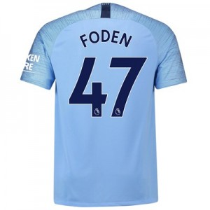 Manchester City Home Stadium Shirt 2018-19 with Foden 47 printing