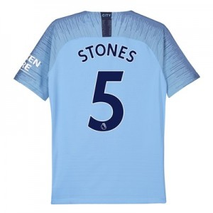 Manchester City Home Vapor Match Shirt 2018-19 - Kids with Stones 5 printing