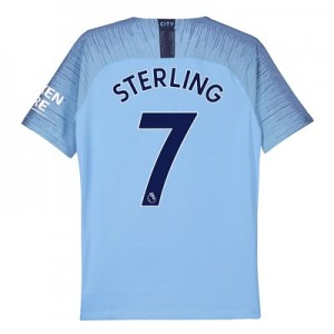 Manchester City Home Vapor Match Shirt 2018-19 - Kids with Sterling 7 printing