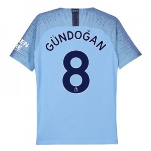 Manchester City Home Vapor Match Shirt 2018-19 - Kids with Gündogan 8 printing