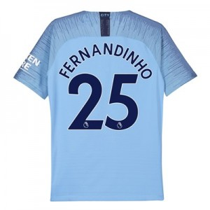 Manchester City Home Vapor Match Shirt 2018-19 - Kids with Fernandinho 25 printing