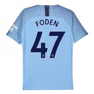 Manchester City Home Vapor Match Shirt 2018-19 - Kids with Foden 47 printing