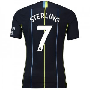 Manchester City Away Vapor Match Shirt 2018-19 with Sterling 7 printing