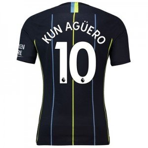 Manchester City Away Vapor Match Shirt 2018-19 with Kun Agüero  10 printing