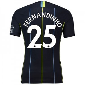 Manchester City Away Vapor Match Shirt 2018-19 with Fernandinho 25 printing