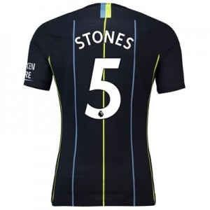 Manchester City Away Vapor Match Shirt 2018-19 with Stones 5 printing
