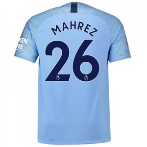Manchester City Home Stadium Shirt 2018-19 with Mahrez 26 printing