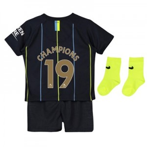 Manchester City Away Stadium Kit 2018-19 - Infants with Champions 19 printing