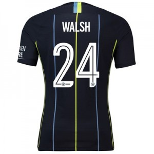 Manchester City Away Cup Vapor Match Shirt 2018-19 with Walsh 24 printing