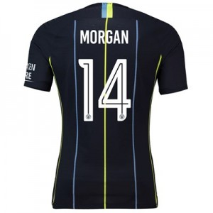 Manchester City Away Cup Vapor Match Shirt 2018-19 with Morgan 14 printing