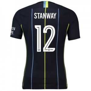 Manchester City Away Cup Vapor Match Shirt 2018-19 with Stanway 12 printing