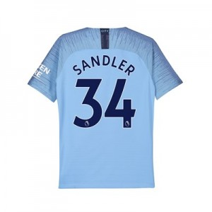 Manchester City Home Vapor Match Shirt 2018-19 - Kids with Sandler 34 printing