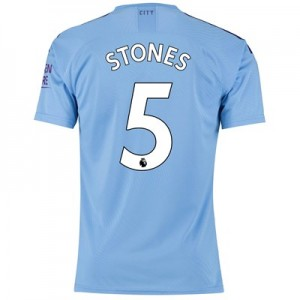 Manchester City Authentic Home Shirt 2019-20 with Stones 5 printing