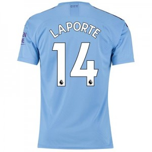 Manchester City Authentic Home Shirt 2019-20 with Laporte 14 printing