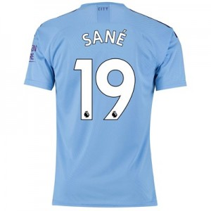 Manchester City Authentic Home Shirt 2019-20 with Sané 19 printing