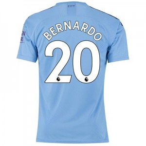 Manchester City Authentic Home Shirt 2019-20 with Bernardo 20 printing