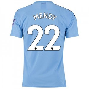 Manchester City Authentic Home Shirt 2019-20 with Mendy 22 printing