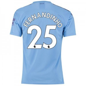 Manchester City Authentic Home Shirt 2019-20 with Fernandinho 25 printing