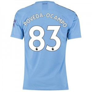Manchester City Authentic Home Shirt 2019-20 with Poveda-Ocampo 83 printing