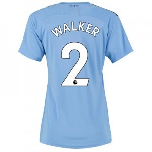 Manchester City Authentic Home Shirt 2019-20 - Womens with Walker 2 printing