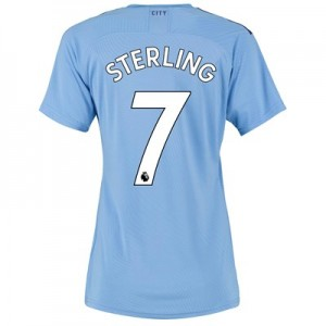 Manchester City Authentic Home Shirt 2019-20 - Womens with Sterling 7 printing