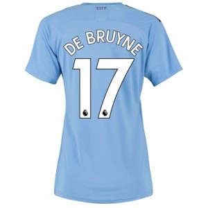 Manchester City Authentic Home Shirt 2019-20 - Womens with De Bruyne 17 printing