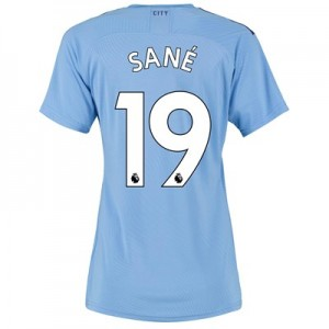 Manchester City Authentic Home Shirt 2019-20 - Womens with Sané 19 printing