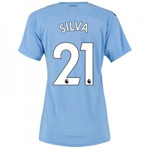 Manchester City Authentic Home Shirt 2019-20 - Womens with Silva 21 printing