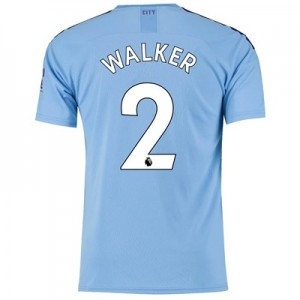 Manchester City Home Shirt 2019-20 with Walker 2 printing
