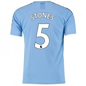 Manchester City Home Shirt 2019-20 with Stones 5 printing