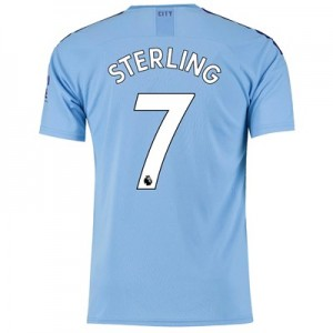 Manchester City Home Shirt 2019-20 with Sterling 7 printing