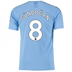 Manchester City Home Shirt 2019-20 with Gündogan 8 printing
