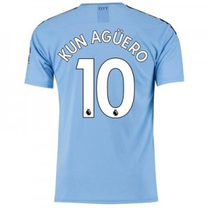 Manchester City Home Shirt 2019-20 with Kun Agüero  10 printing